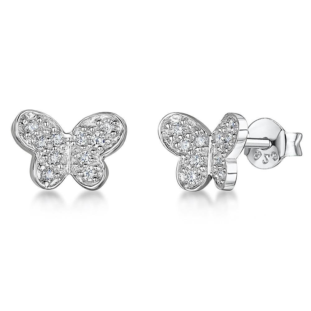 9e9f3987f Jools - Cubic Zirconia Set, Silver Butterfly Earrings | Guest and Philips