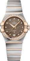 Omega - Constellation, Diamond Set, Stainless Steel/Tungsten - Glass/Crystal - Rose Gold Automatic Watch, Size 27mm