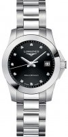 Longines - Conquest, Diamond Set, Stainless Steel - Watch