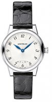 Montblanc - Boheme, Dia 0.046ct Set, Leather - Stainless Steel - Automatic Watch, Size 30mm - 111055