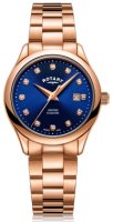 Rotary - Oxford, Diamond Set, Rose Gold Plated - Crystal/Glass - Quartz Watch