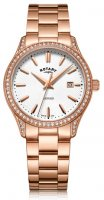 Rotary - CZ Set, Rose Gold Plated - Crystal/Glass - Quartz Watch