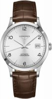 Longines - Record, Stainless Steel - Leather - Automatic Bracelet Watch, Size 40mm
