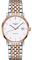 Longines - Elegant, Stainless Steel - Rose Gold Plated - Automatic Watch, Size 39mm