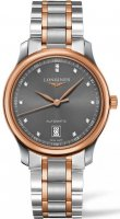 Longines - Master , Diamonds Set, Stainless Steel - Rose Gold Plated - Automatic Watch