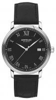 Montblanc - Tradition , Leather - Stainless Steel - Automatic Watch, Size 40mm
