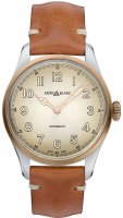 Montblanc - 1858, Leather - Stainless Steel - Automatic Watch, Size 40mm