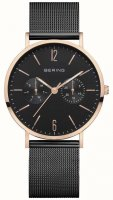 Bering - Classic, Stainless Steel Chronograph Mesh Strap Watch