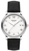 Montblanc - Tradition, Leather - Stainless Steel - Automatic Watch, Size 40mm