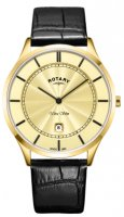 Rotary - Ultra Slim, Yellow Gold Plated Quartz Watch