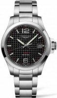 Longines - Conquest, Stainless Steel - Crystal Glass - Carbon Fibre VHP Quartz Watch, Size 40MM