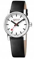 Mondaine - evo2, Stainless Steel  Leather Strap Quartz Watch, Size 30mm