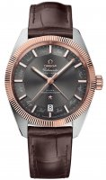 Omega - Globemaster, Rose Gold - Stainless Steel/Tungsten - Leather master chronometer, Size 41mm
