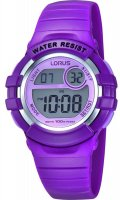 Lorus - Purple Plastic Digital Watch