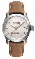 Bremont - Solo, Stainless Steel - Leather - Crystal/Glass Auto Watch, Size 37mm