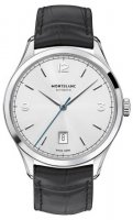 Montblanc - Heritage , Leather - Stainless Steel - Automatic Watch, Size 40mm