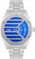 Storm - Men's, Vaultas Lazer Blue, Stainless Steel Blue Dial Watch