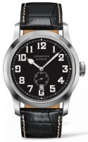 Longines - Heritage Military, Stainless Steel - Leather - Automatic watch, Size 44mm