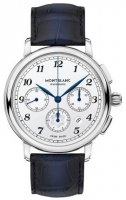 Montblanc - Star Lagacy, Stainless Steel - Leather - Automatic Watch, Size 42mm