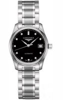 Longines - Master, Diamond Set, Stainless Steel/Tungsten - Glass/Crystal - Automatic Watch, Size 29mm