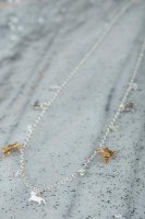 Amanda Coleman - Aqua Set, Sterling Silver - Yellow Gold Plated - 22ct Unicorn and Pegasus Necklace