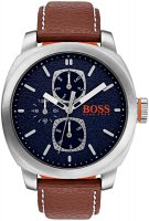 Hugo Boss - Boss Orange, Cape Town, Stainless Steel and Brown Leather Watch