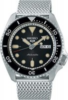 Seiko - Seiko 5, Stainless Steel/Tungsten Automatic Mesh Strap Watch