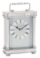 London Clock - Silver Finish Carriage Mantel Clock