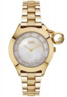 Storm - Ladies', Sparkelli Gold, Crystal Set, Yellow Gold Plated White Dial Watch