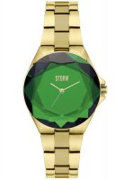 Storm - Ladies' Crystana Gold Green, Stainless Steel Green Dial Watch
