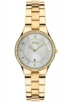 Storm - Ladies' Slim X Crystal Gold, Yellow Gold Plated Silver Dial Watch
