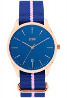 Storm - Men's, Morley Rose Gold Blue, Fabric Strap Watch
