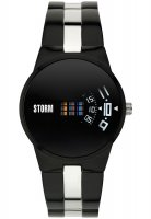 Storm - Men's New Remi Slate , Stainless Steel Black Dial Watch