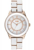 Storm - Ladies' Zarina, Crystal Set, Rose Gold Plated White Dial and Bracelet Watch