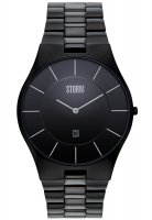 Storm - Men's Slim-X XL Slate, Slate Ion Plated Stainless Steel Black Dial Watch