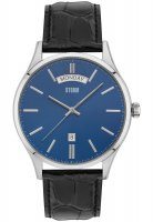 Storm - Men's, Dudley Blue, Stainless Steel and Leather Watch