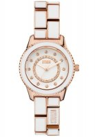 Storm - Ladies, Mini Zarina Rose Gold, Rose Gold Plated White Dial and Bracelet Watch