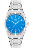 Storm - Hixter, Stainless Steel Men's Lazer Blue Watch