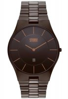 Storm - Men's Slim-X XL Brown, Brown Ion Plated Stainless Steel Black Dial Watch