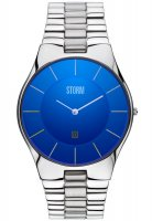 Storm - Slim-X XL, Stainless Steel Lazer Blue Watch