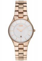 Storm - Ladies', Slim-X Rose Gold, Rose Gold Plated White Dial Watch