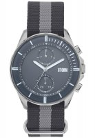 Storm - Men's, Rexford Grey, Stainless Steel and Fabric Watch