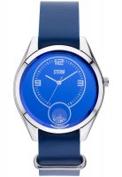 Storm - Ladies' Orba Leather Lazer Blue, Stainless Steel and Leather Blue Dial Watch