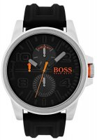 Hugo Boss - Boss Orange, Detroit, Stainless Steel with Black Silicone Strap Watch
