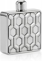 Royal Selangor - Bar, Pewter 10cl Flask Hexagon, Size 7.5cmx9.5cm