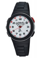 Lorus - Kids Black and Red Resin, Buckle Strap Watch