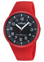 Lorus - Kids, Red Silicone Sports Strap Watch