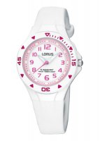 Lorus - Kids, White and Pink Plastic Watch