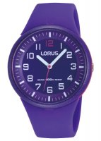 Lorus - Kids, Purple Silicone Sports Strap Watch