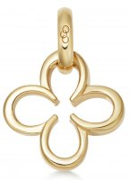 Links of London - Ascot, 18 Ct Yellow Gold Vermeil Clover Charm